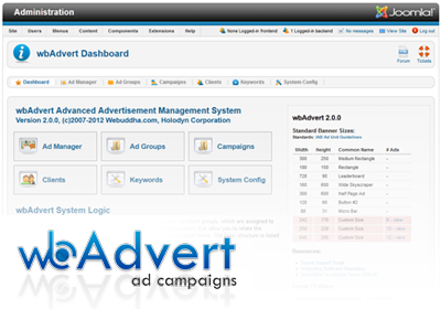 wbAdvert Banner Campaign Manager for Joomla!