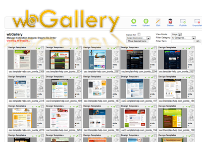 wbGallery Image Gallery Software for Joomla! | by Webuddha and Atlanta Web Design Company
