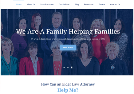 Atlanta Web Design, Web Development & Hosting | Hurley Elder Care Law Web Design