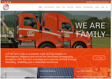 Atlanta Web Design, Web Development & Hosting | J&M Tank Lines, LLC