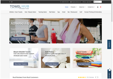 Atlanta Web Design, Web Development & Hosting | Towel Hub Wholesale Towels